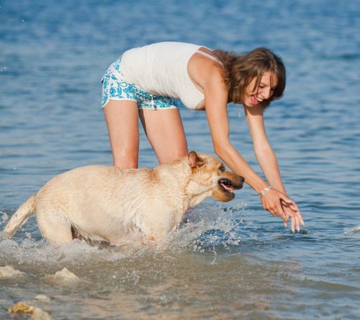 Baden mit Hund