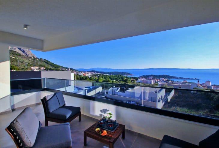 Villa Olimp mit Pool und Meerblick