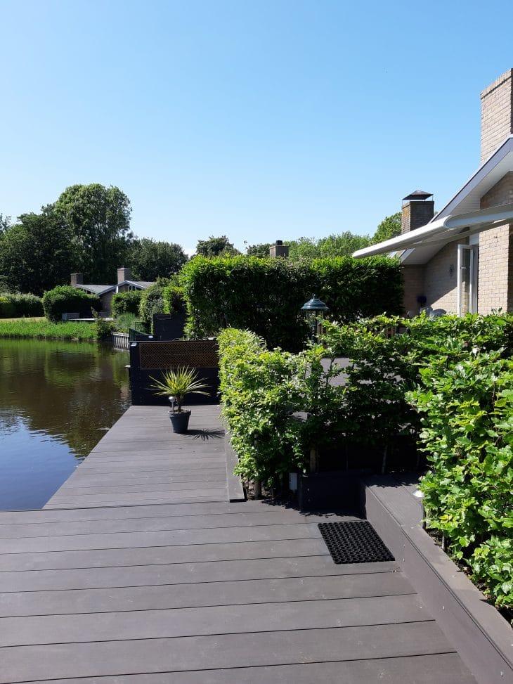 Haus Meerzicht eigener Steg-Blick aufs Wasser