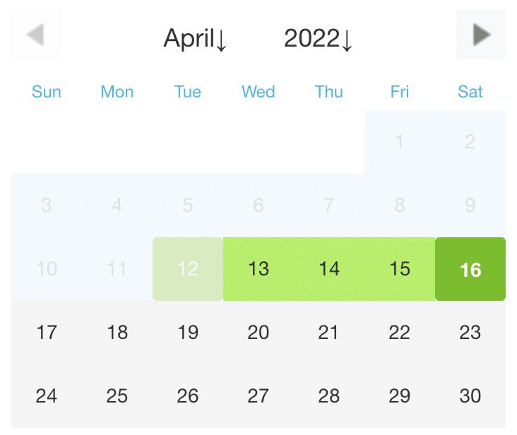 belegungskalender - manuell pflegen