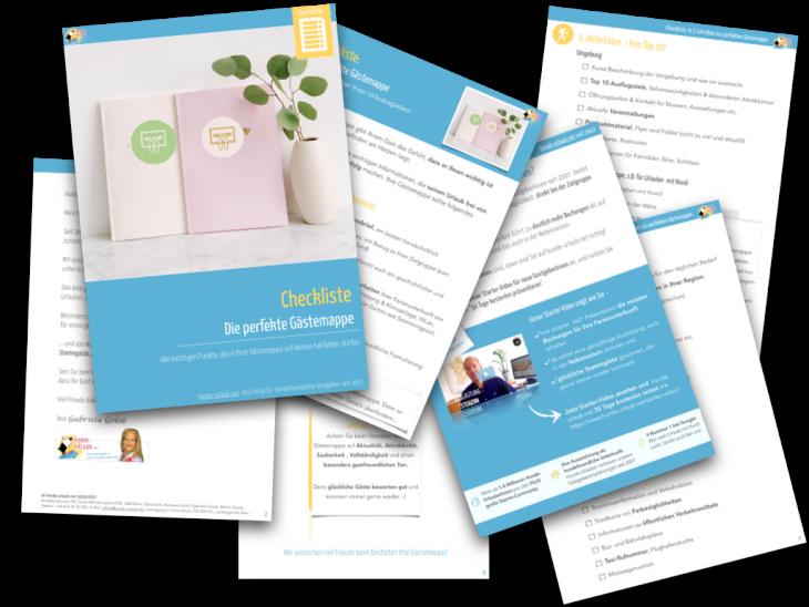 Illustration - Checkliste Gästemappe